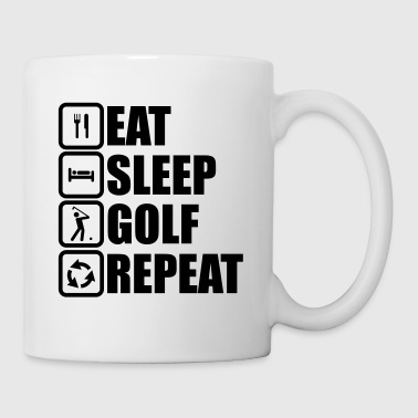 eat sleep golf repeat - Kop/krus