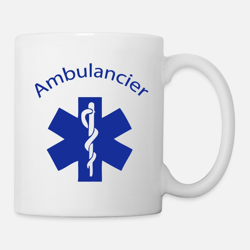 Ambulancier Mugs et gourdes - ambulancier entreprise - Mug blanc