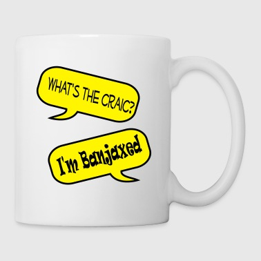 whats the craic banjaxed speech bubble - Mug
