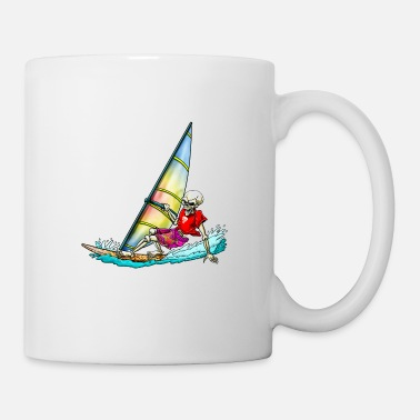 Windsurfer Skelett  - Tasse