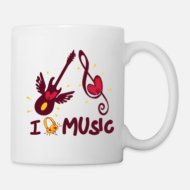 Pop Star I Love Music Music Love 3 colors selectable Godigart - Mug