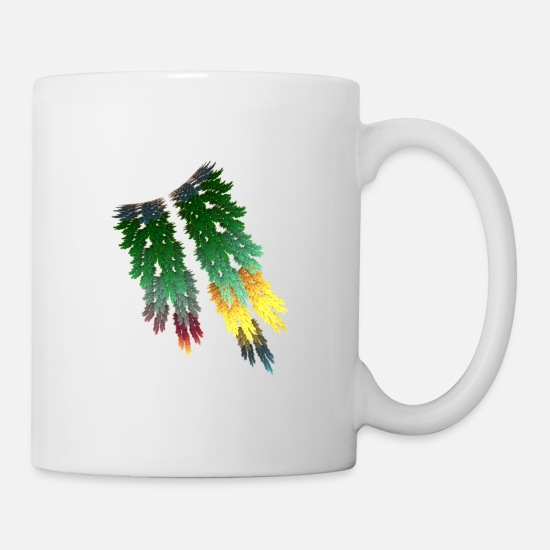 Chemistry Mugs & Drinkware - Colorful parrot feathers - Mug white