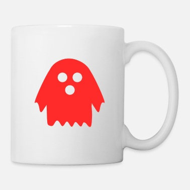 Ghoulish Ghost in red - Mug