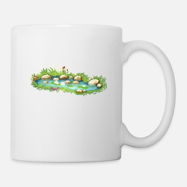Pond Garden Pond Pond Water Plants - Mug