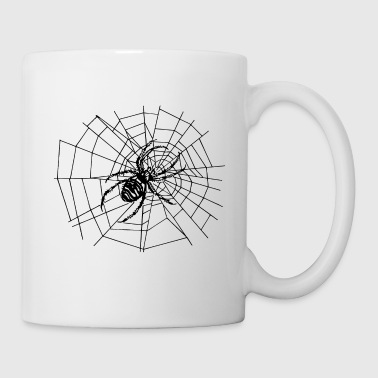 spider in the net - Mug