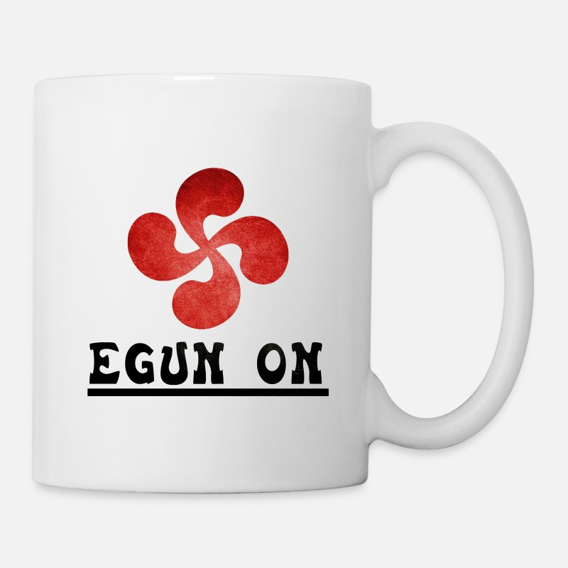 Basque Mugs et gourdes - Egun on Basque vintage - Tasse Standard blanc