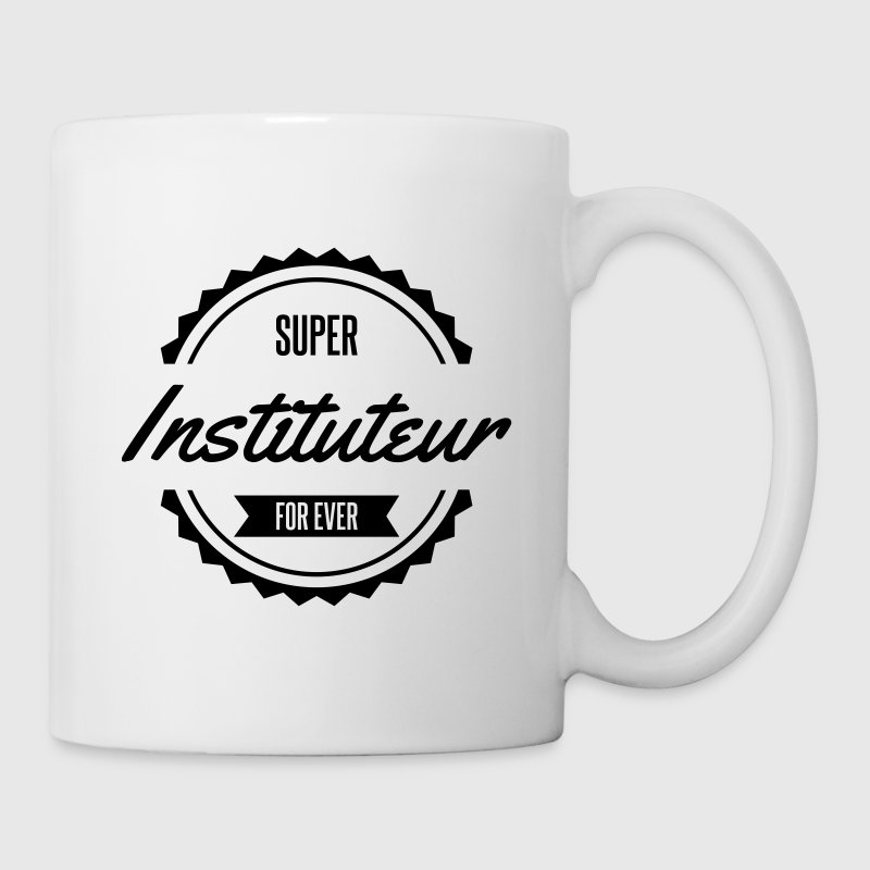 super instituteur prof école - Mug blanc