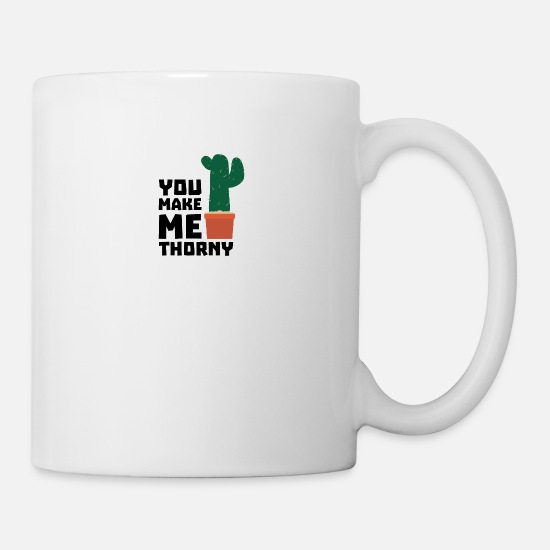 Nature Mugs & Drinkware - Make me thorny cacti S7h88 design - Mug white