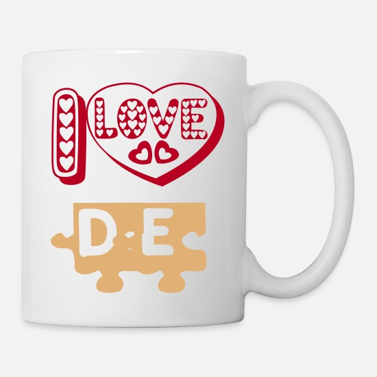 I Love Mugs et récipients - i love  - Mug blanc