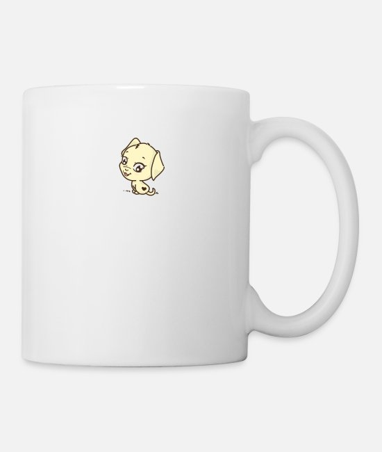 Small Mugs & Drinkware - Cute little cute doggy - Mug white