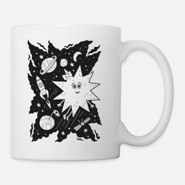 Black And White Collection Stella étoile pour colorier - Mug blanc