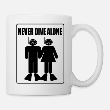 Never Dive Alone - Mug