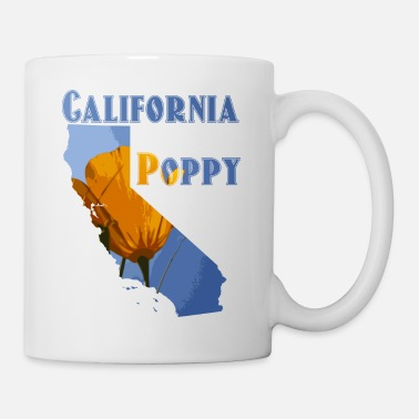 Californie Californie Poppy - Mug blanc