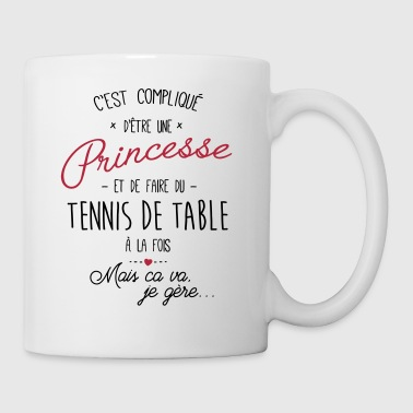 princesse et Tennis de table - Mug blanc