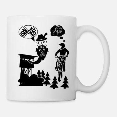 Motocycle Biker vs. Hunter - Mug