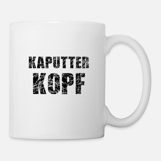 Kaputter Kopf Weiss Tasse Weiss
