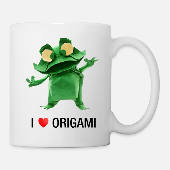 Love Mugs & Drinkware - I love Origami - Frog Origami - Mug white