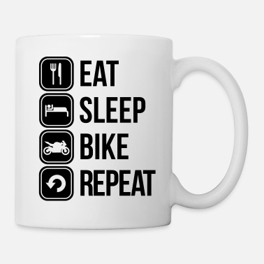 Repeat eat sleep bike repeat - Mug