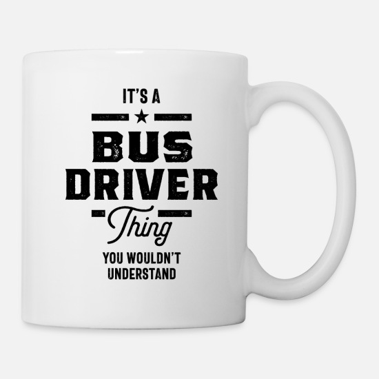 Bus Mugs & Drinkware - Bus Driver Work Job Title Gift - Mug white