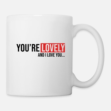 Kiss you're lovely amour couple i love s'aimer - Mug