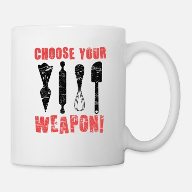 Wheat Choose Your Weapon Cake Artist Baker Cupcake - Mug