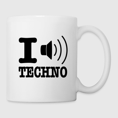 I love techno / I speaker techno - Tasse
