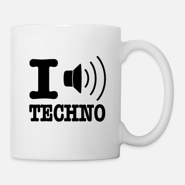 I Love Techno I love techno / I speaker techno - Tasse