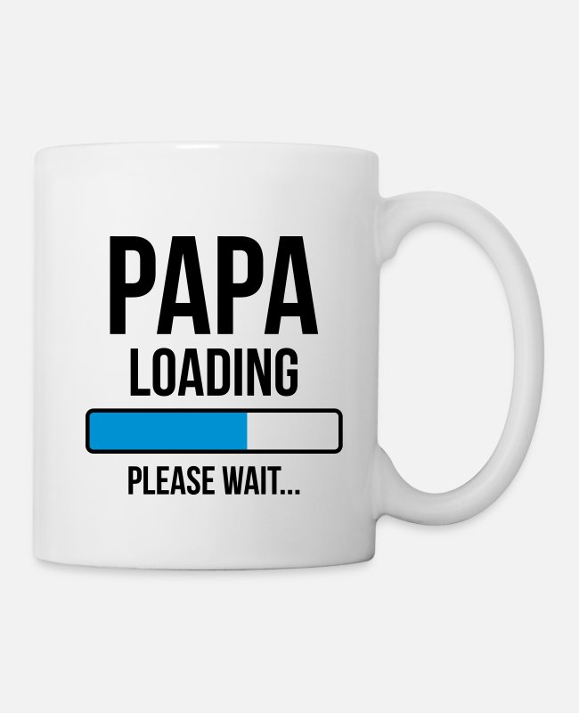 Grossesse Mugs et tasses - Papa Loading Please wait... - Mug blanc