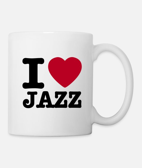 I Speaker Jazz Tassen & Becher - I love jazz / I heart jazz - Tasse Weiß