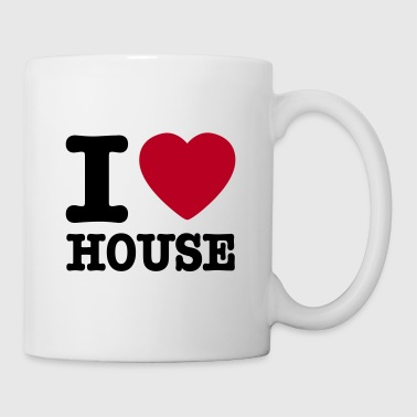 I love house / I heart house - Mugg