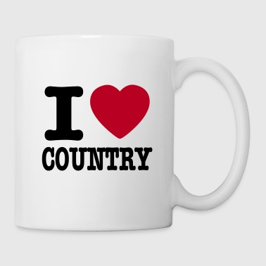 i love country / i heart country - Kubek
