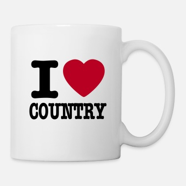 Country i love country / i heart country - Tazza