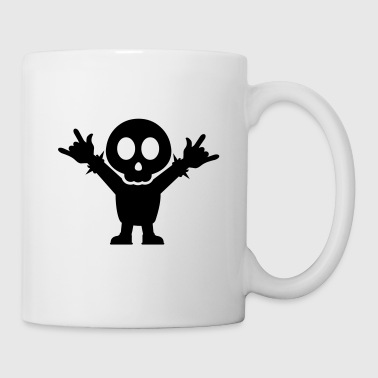 Heavy Metal Fan with rocking Fingers Fork - Tasse