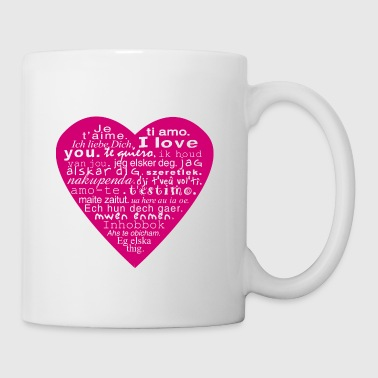 coeur I love you - Mug blanc
