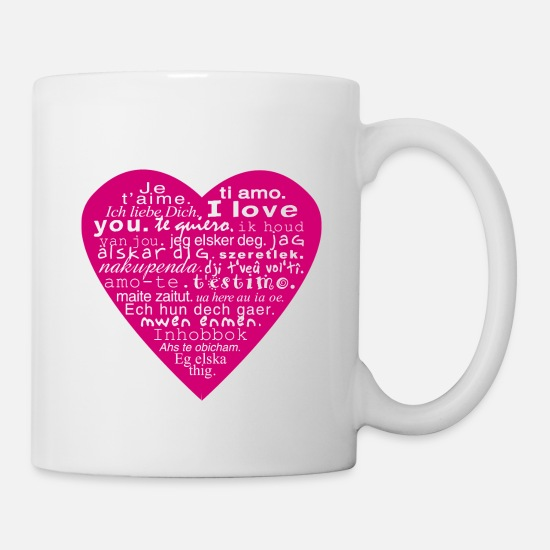 "I Love Mugs et récipients - coeur ""I love you"" - Mug blanc"