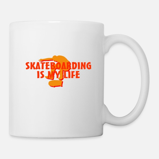 Gift Idea Mugs & Drinkware - Skateboard skateboarding - Mug white