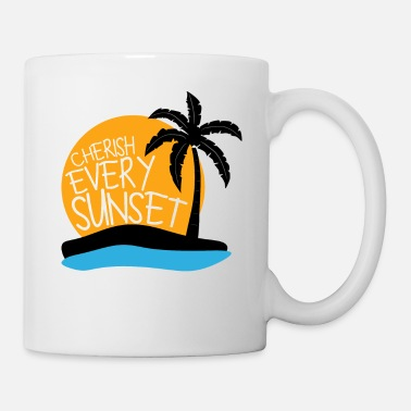Nettoyage Premium Cherish Every Sunset Design - Mug blanc