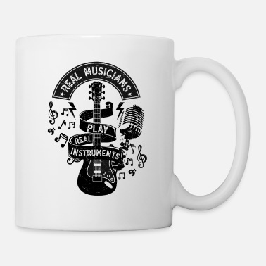 Country &amp Real Musicians Play Real Instruments Rock Country - Mug