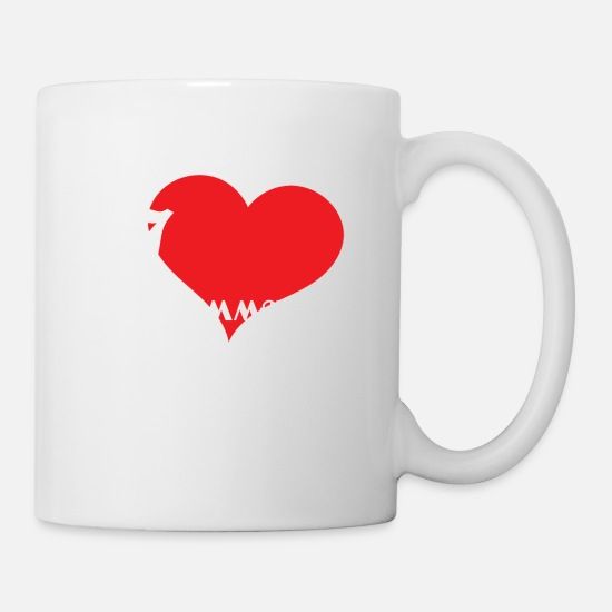 Mal Mugs et récipients - Funny Description Immature T-shirt Design I love - Mug blanc