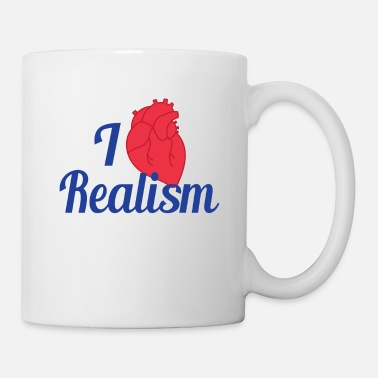 Nerd Realists Quote TShirt Design I heart Realism - Mug