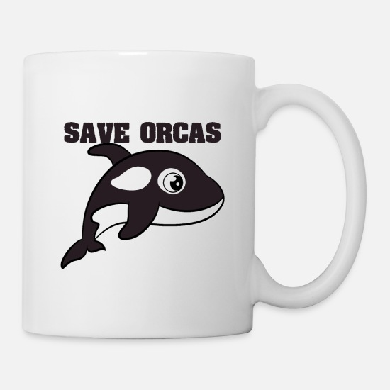 Save Mugs & Drinkware - Start the movement of saving the orcas with this - Mug white