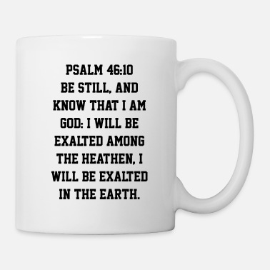 Cross Psalm 46:10 Bible Verse Be Still And Know - Mug