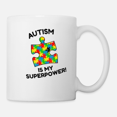 Puzzle Autism Superpower Asperger Disability Gift - Mug