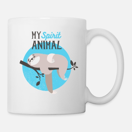 Symbol  Mugs & Drinkware - MY spirit animal- Faultier faul Tier Spaß - Mug white
