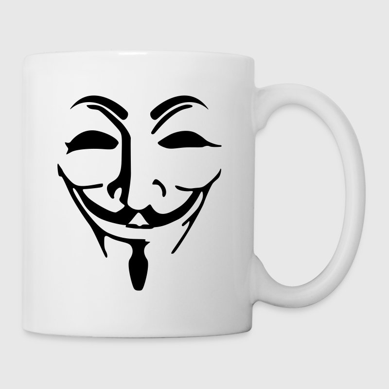 Anonymous máscara - Taza