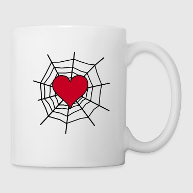 Heart in the net - Mug