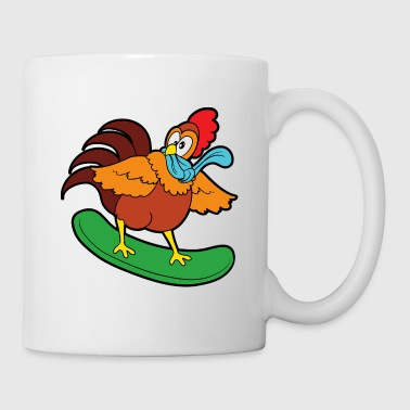 Rooster Cute Funny Cool Rooster Chicken Chickens - Mug