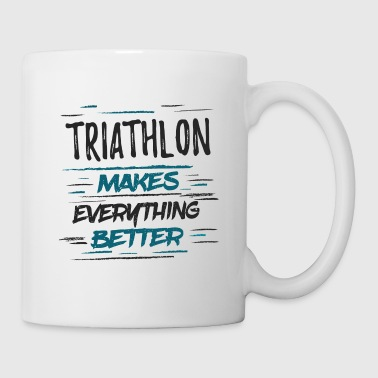 Mistrz Funny Triathlon Memes Tee Shirt TriathleteGift - Kubek