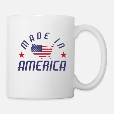 Stars And Stripes Hecho en USA America Stars and Stripes - Taza