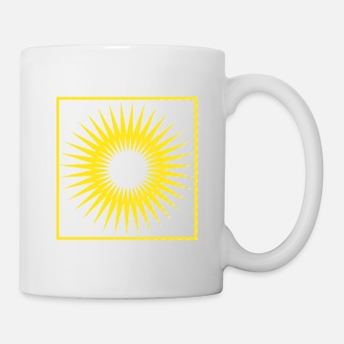Bright Geometry stripes sun abstract square - Mug